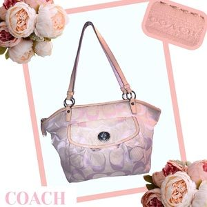 COACH Leah Signature Shoulder Bag # F14659